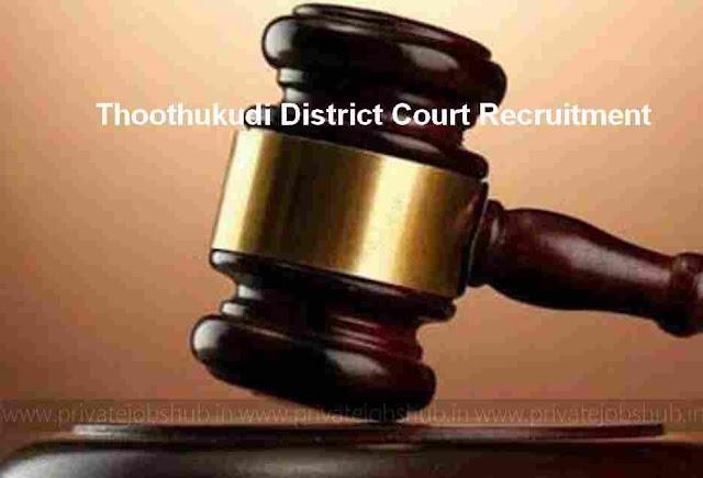 Thoothukudi District Court Recruitment