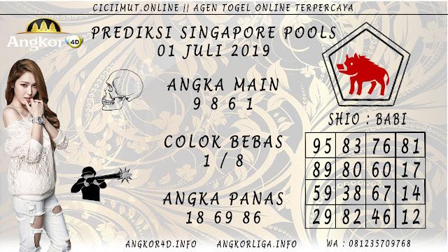 PREDIKSI SINGAPORE POOLS 01 JULI 2019