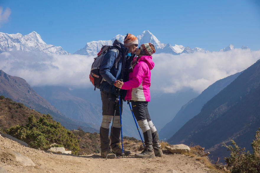Or maybe make the best memory by coming there for your honey moon with your lover like this lovely couple - I Traveled To Nepal Before, During, And After The Earthquake, And You Should Come There In 2016