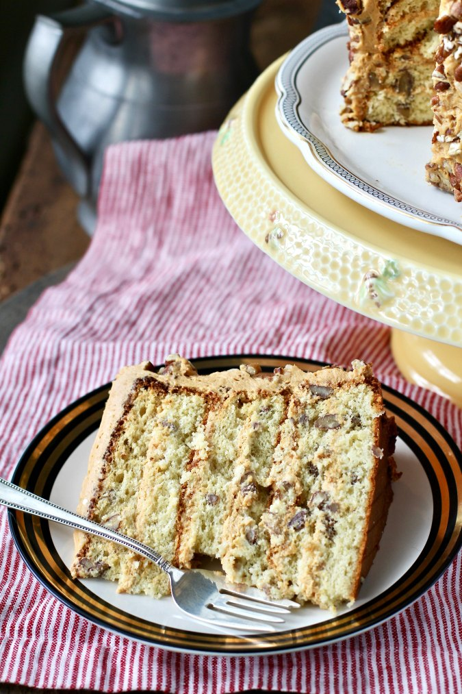 Ukrainian Caramel Honey Cake slice