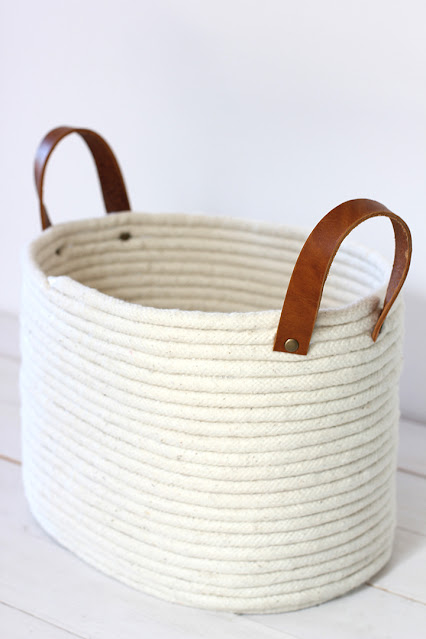 no sew rope basket
