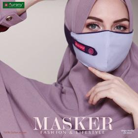 A-MASKER FL UNGU MUDA Masker Gamis Aurany