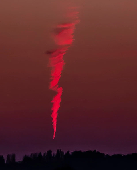 Massive Burning Object Falls From Sky