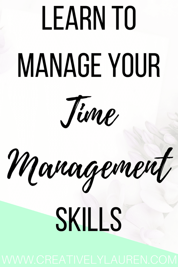 Learn to Manage Your Time Management Skills