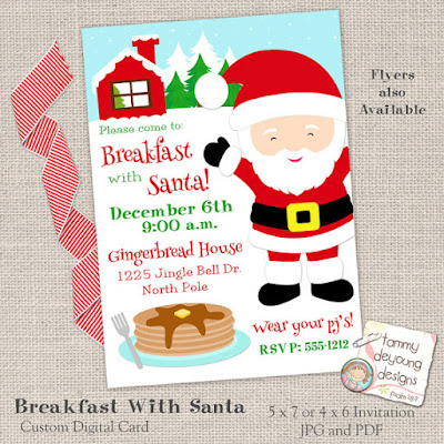 Breakfast with Santa invitation