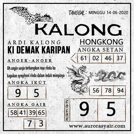 Prediksi HK Hari Ini 14 Juni 2020 - Syair Kalong