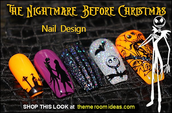 Jack The Pumpkin King - False Nails - Nightmare Before Christmas Nails  halloween nail designs Nightmare before christmas