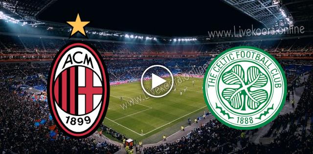 موعد مباراة سيلتك وميلان بث مباشر بتاريخ 22-10-2020 الدوري الأوروبي
