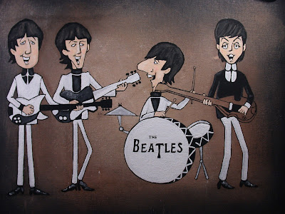 The Beatles Cartoon iCONS Pop Art Acrylic Painting