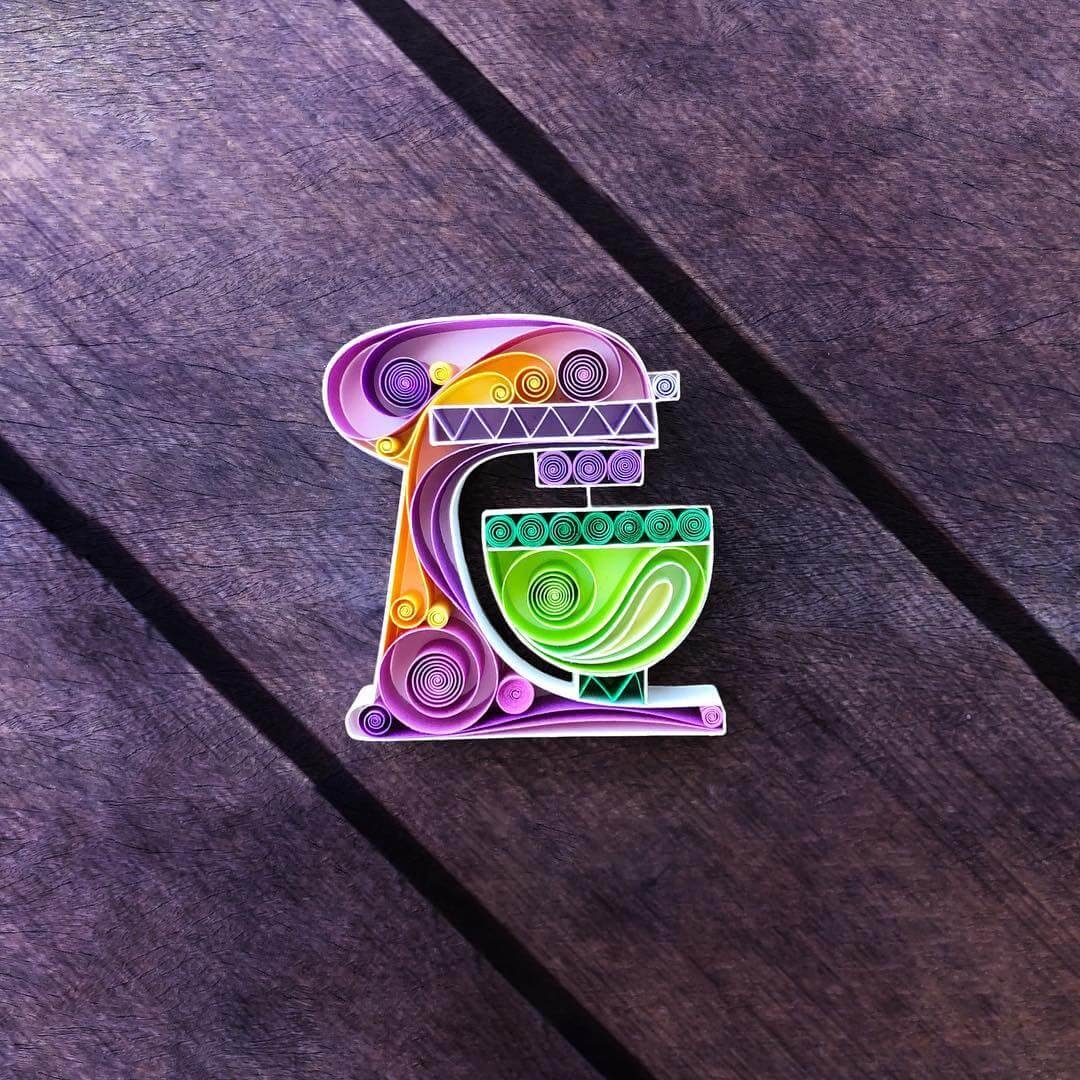 11-Cake-Mixer-Sena-Runa-Quilling-Art-Animals-and-Objects-www-designstack-co