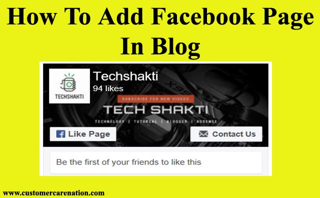 Apne Facebook Page Ko Blog Me Add Kaise Kare 2019