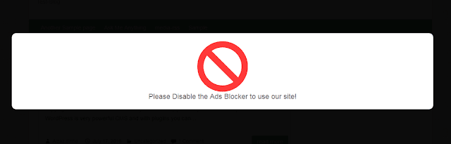 increase ads revenue in WordPress by blocking Ads blockers