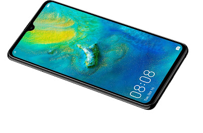 Source: Huawei website. The Dewdrop display on the HUAWEI Mate 20.