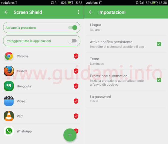 Screen Shield app Android