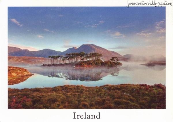 Irlandia - Morning mist, Derryclare Lough, Connemara