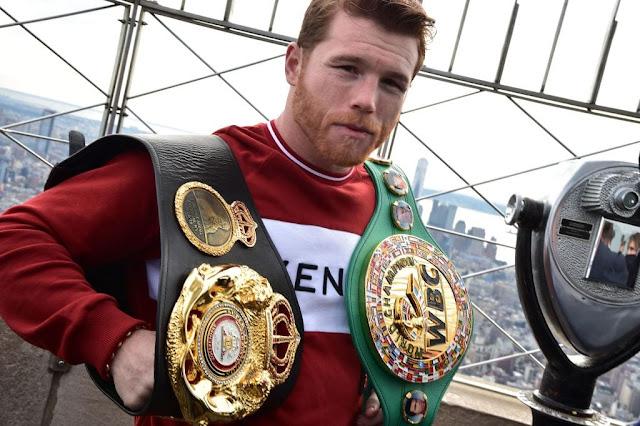 Canelo Alvarez and WBO & WBC Middleweight titles