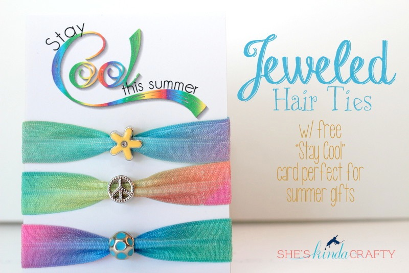 20 Minute Tuesday | Jeweled Hair Ties - Shes {kinda} Crafty