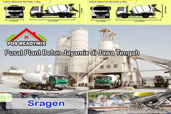 Harga Cor Beton Jayamix Sragen Per m3 Terbaru 2021