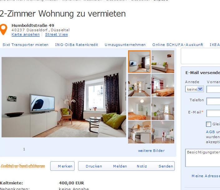 nette m blierte 2 zimmer kaltmiete 400 00 zzgl nebenkosten. Black Bedroom Furniture Sets. Home Design Ideas