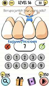 Berapa jumlah telur yang ada brain test