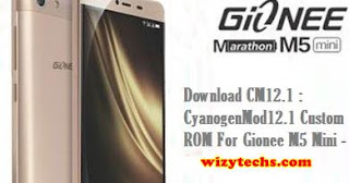 CM12.1 custom rom for gionee m5 mini