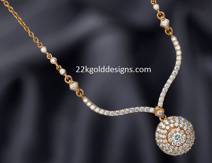 Simple Gold and Diamond Necklace