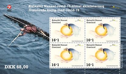 Koronavirus aiheinen postimerkki
