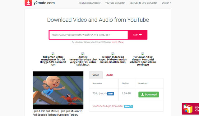 Cara Download Video Youtube di Y2mate
