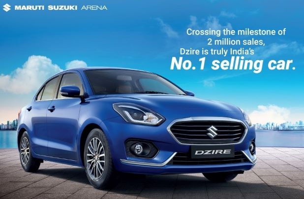 With 2 Million Owners, Maruti Suzuki Dzire becomes India's No 1 selling car
