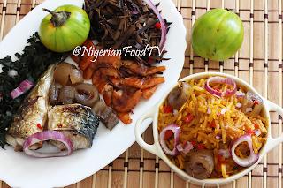 African Salad, Abacha ncha and Ugba ukpaka (African Salad)
