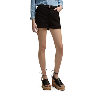 Whistles High Waist Turn Up Shorts