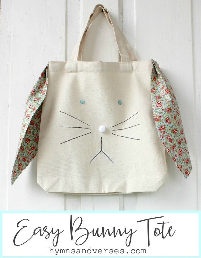 Hymns and Verses bunny tote