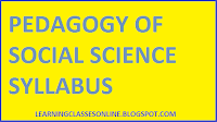b.ed social science or social studies syllabus pdf free download