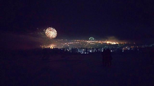 Fireworks in Lapland Finland 2014/2015.