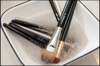 Clean your makeup brushes once in a week