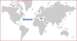 Gambar Peta letak Yunani
