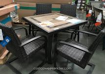 Agio International 5 Piece Woven Dining Set Costco Weekender