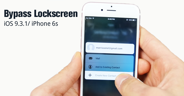 Hacker reveals How to Bypass iPhone 6s Lock Screen Passcode [Video]