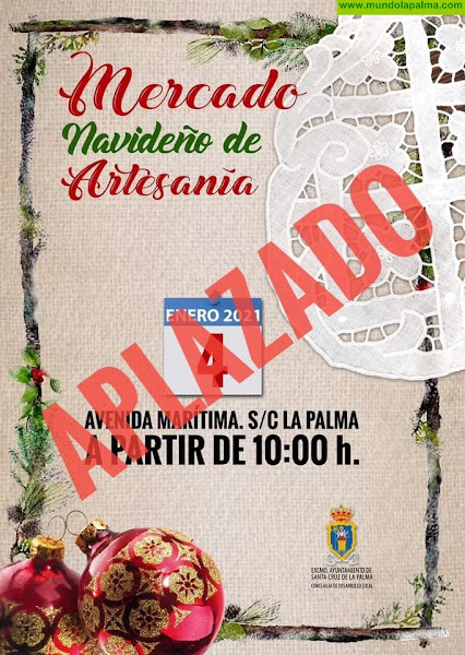 El Ayuntamiento aplaza el Mercado Navideño de Artesanía de hoy lunes por el mal tiempo