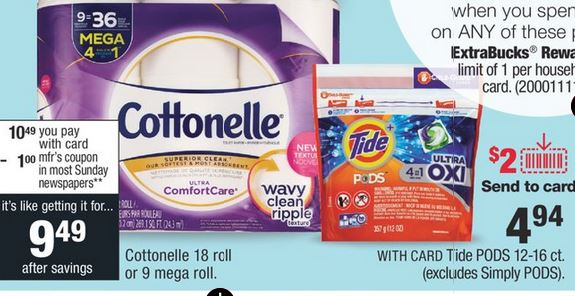 Tide, Cottonelle & Kleenex CVS Deal Only $0.94 3/8-3/14