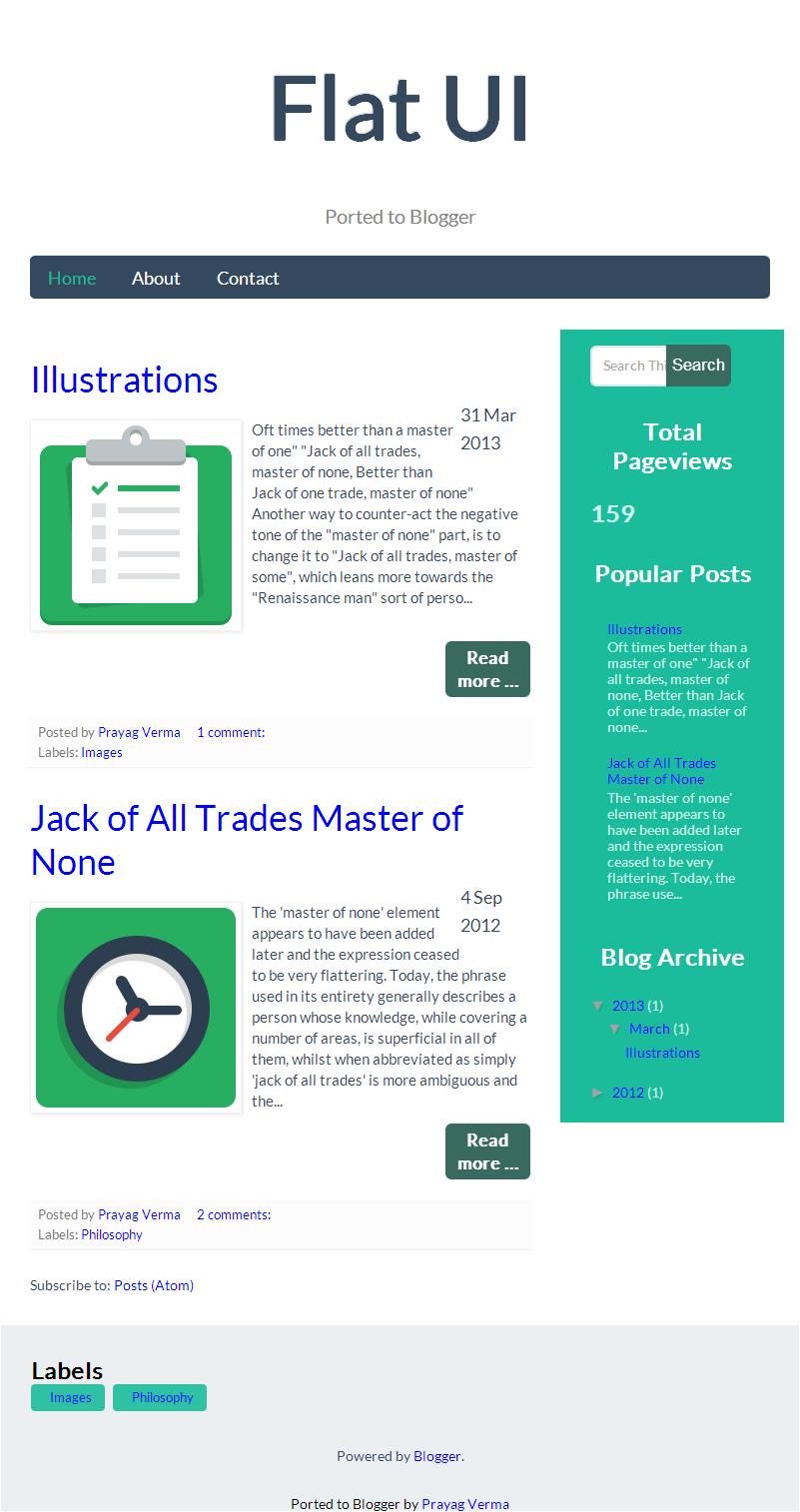new blogger template   flatui
