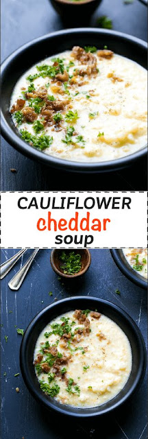 CAULIFLOWER CHEESE SOUP LOW CARB RECIPE