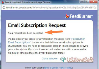 How To Submit Subscribe Email For Get New Update From Blog Website- screen 3