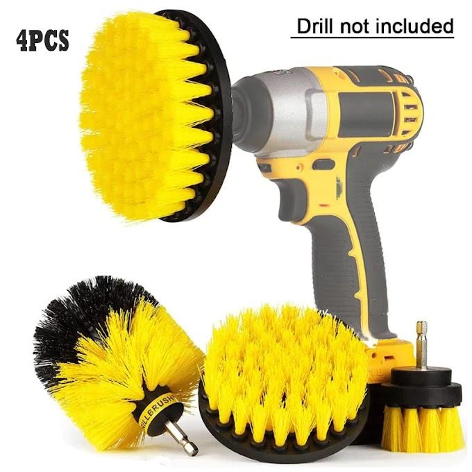 Drill Brush Cleaner Kit Power Scrubber