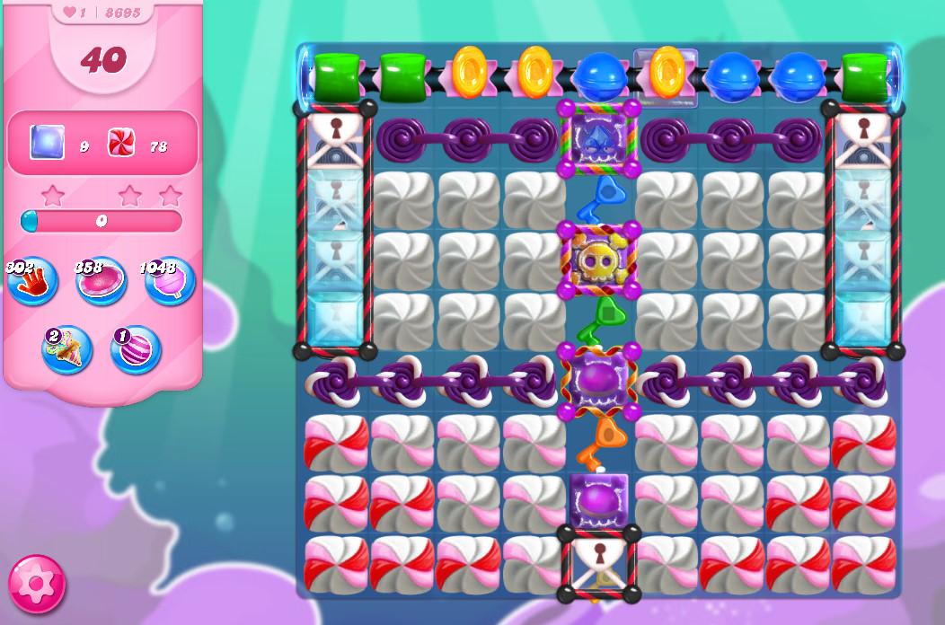 Candy Crush Saga level 8695