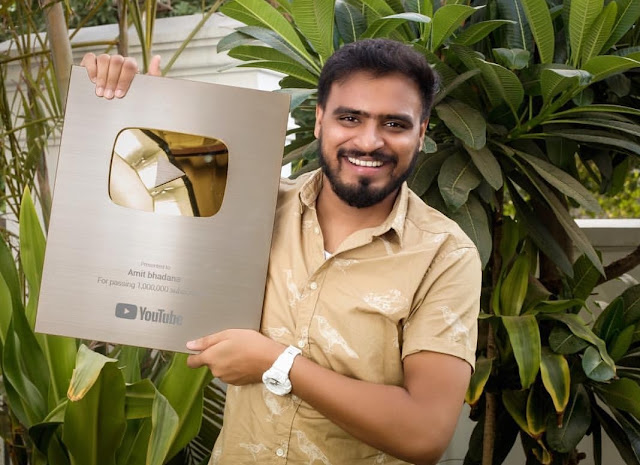 amit bhadana with  golden play button
