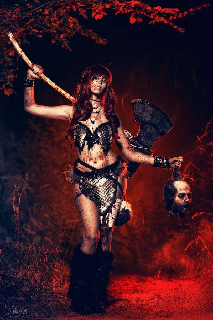 Gunter con su cosplay de Red Sonja