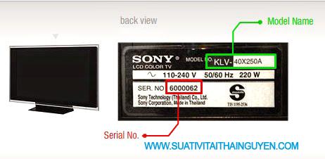 kiểm tra xem model của tivi sony là gì