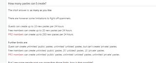 Pastebin FAQ