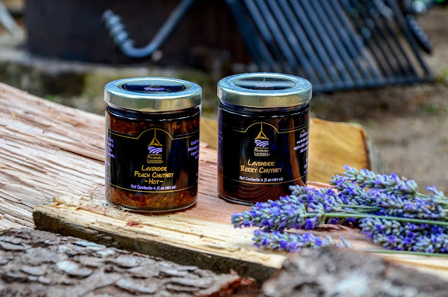 Lavender Peach Chutney and Berry Chutneys from Pelindaba Lavender Farm